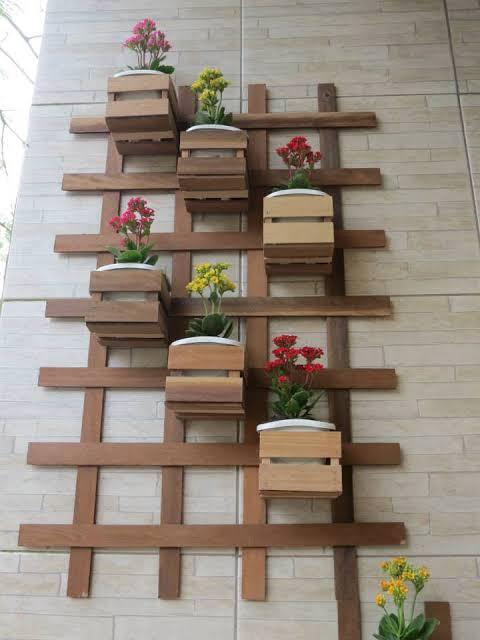 Floreira de madeira grande