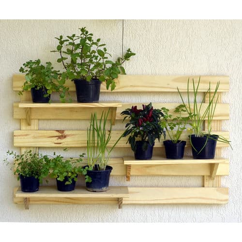 Floreira de madeira horizontal