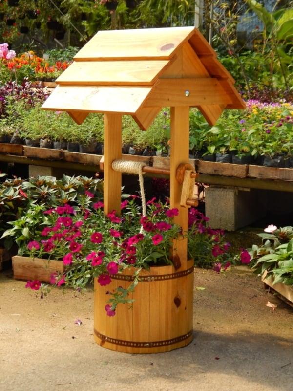 Floreira em forma de poço rústica