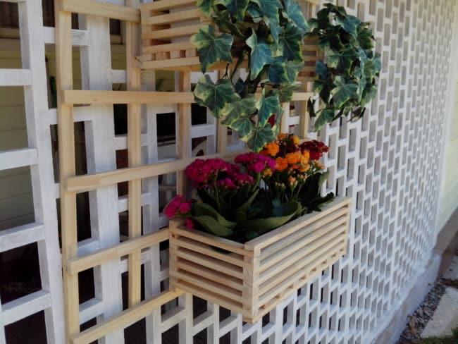 Floreira para fixar na parede