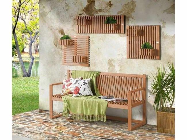 Floreiras de parede de madeira