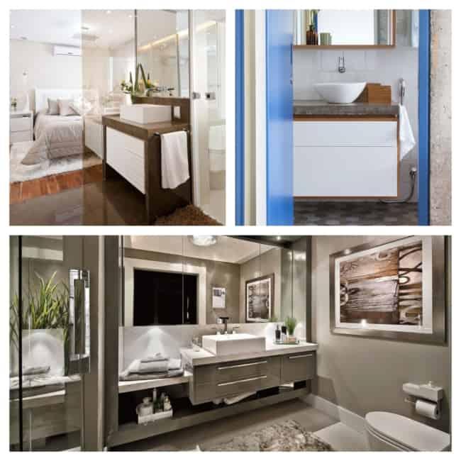 Gabinete para banheiro luxo