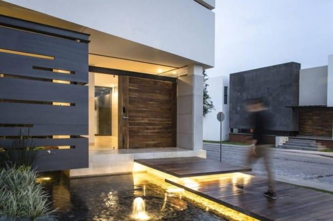 Inspiração de entrada moderna para casa