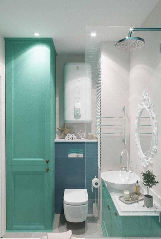 Lavabo verde e branco