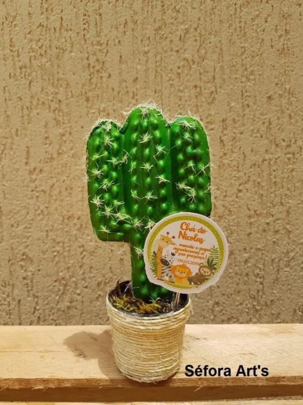 Mini cacto decorativo de EVA