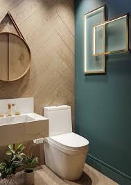 Parede verde no lavabo