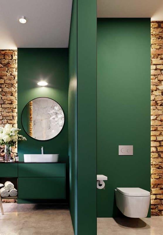 Paredes verdes para banheiro