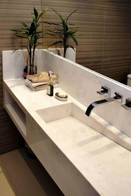 Pia de banheiro moderna