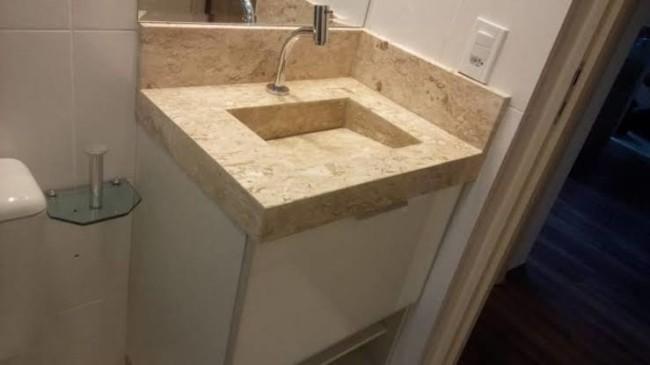 Pia de mármore para banheiro