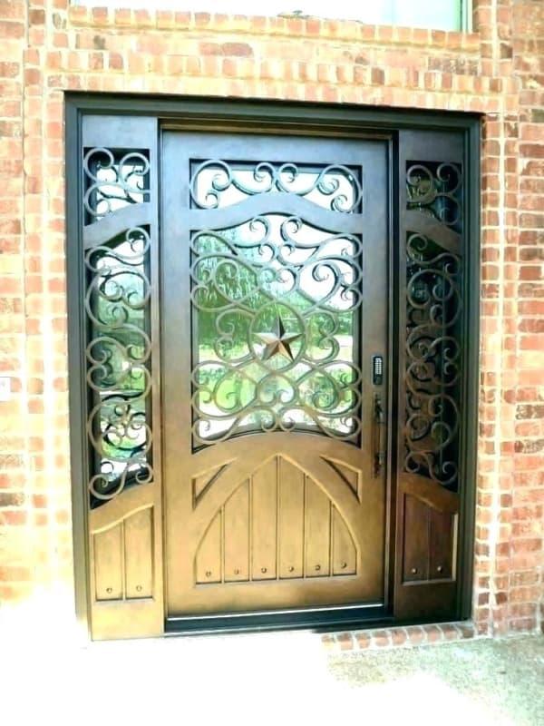 Porta de ferro para entrada