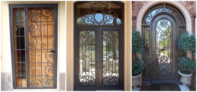 Portas de ferro com vidro 1