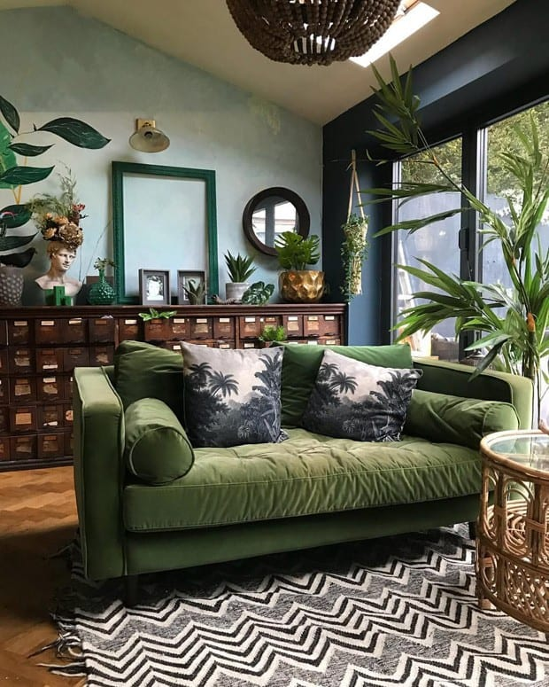 Sala inspirada na natureza