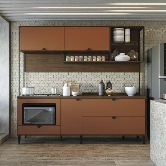 armario terracota na cozinha