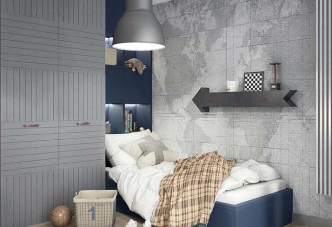 bela ideia de quarto infantil planejado masculino