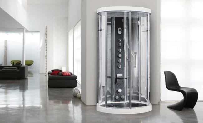 cabine de banho com fibra