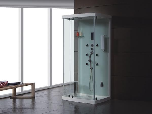 cabine de banho compacta branca