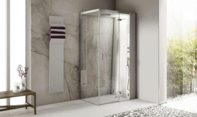 cabine de banho compacta decorada