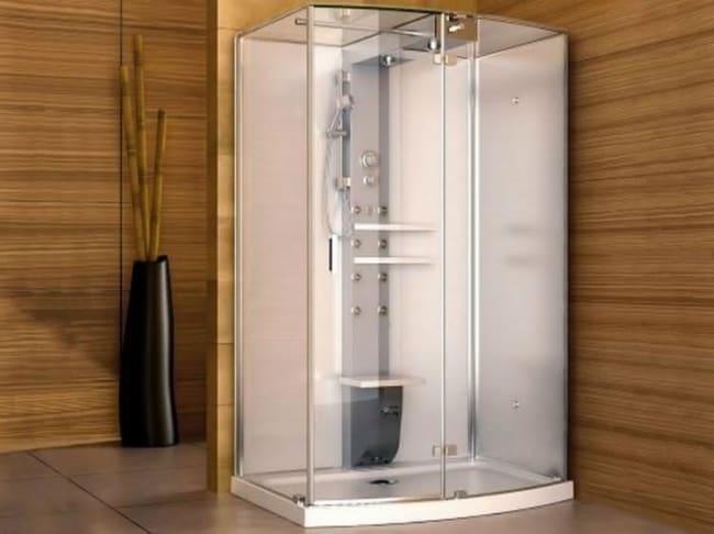 cabine de banho em fibra