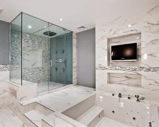 cabine de banho moderna decorada
