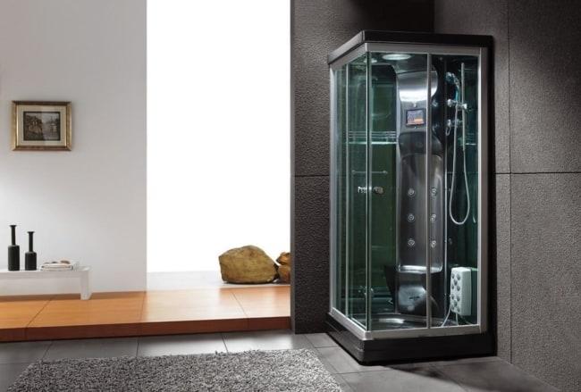 cabine de banho moderna preta
