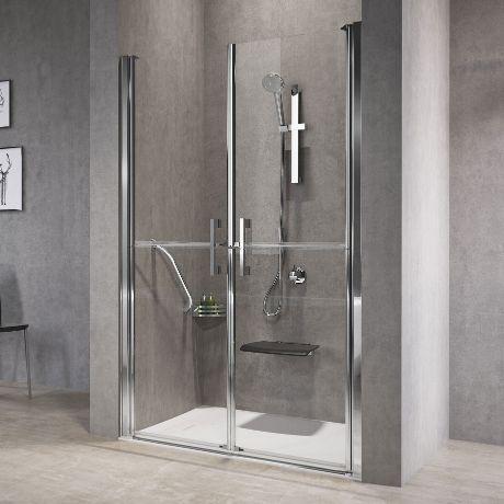 cabine de banho simples cinza