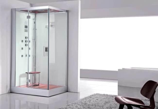 cabine de banho simples decorada
