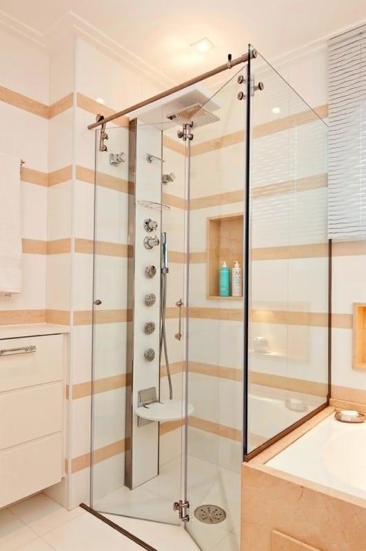cabine de banho simples ideias
