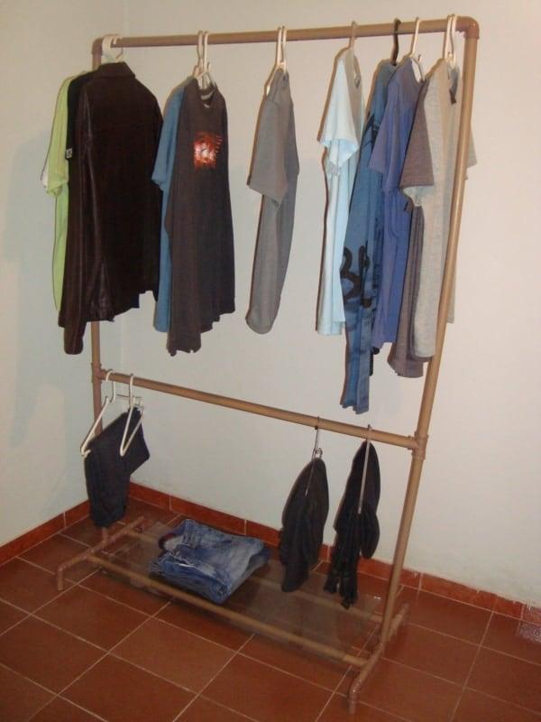 closet com cano pvc