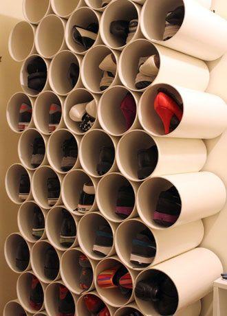 closet com canos de PVC
