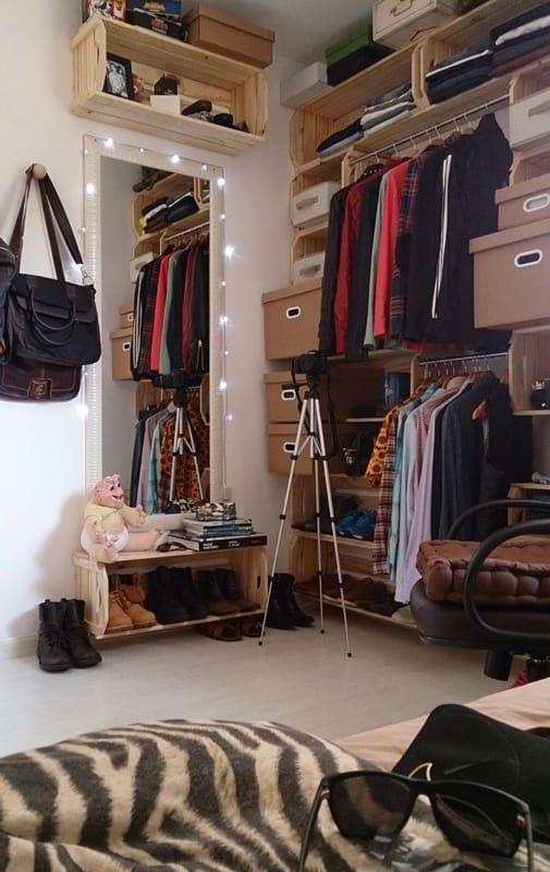 closet com papelão ideiass