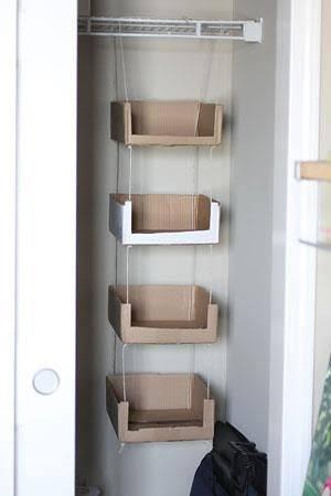 closet com papelão