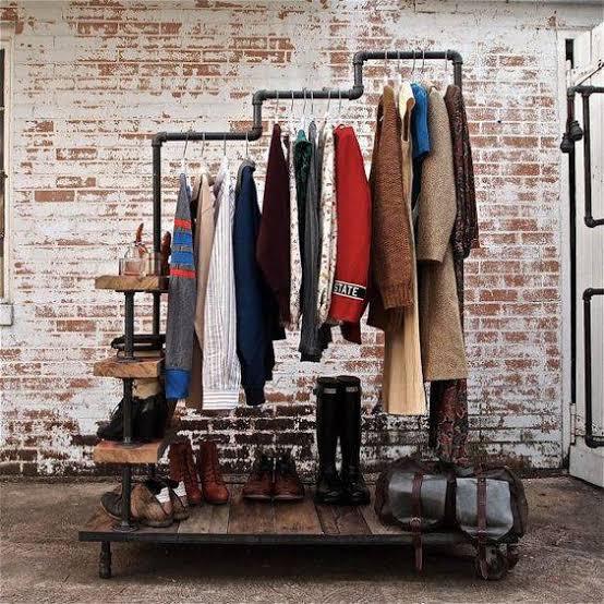 closet de cano de ferro