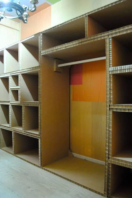 closet de papelão ideias