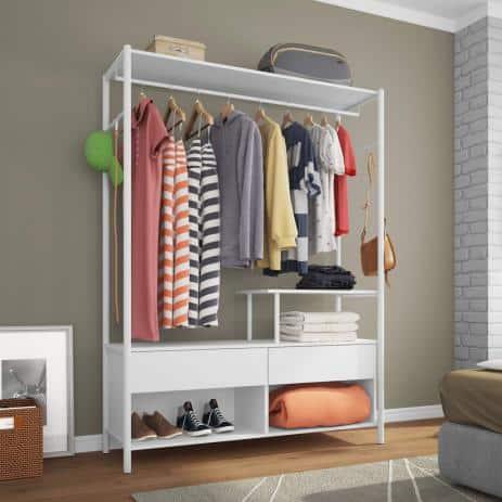 closet modulado MDF aberto