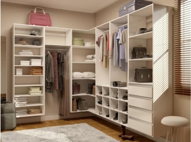 closet modulado MDF em L