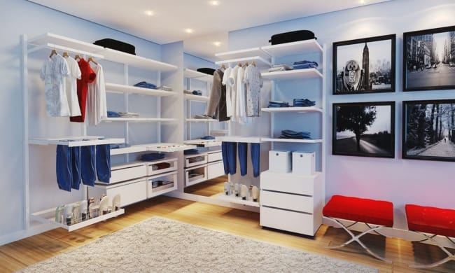 closet modulado aramado branco