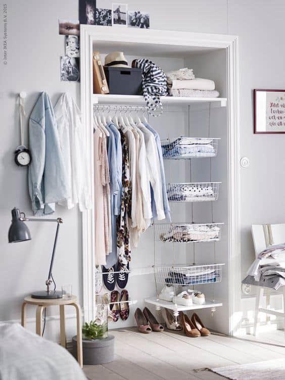 closet modulado aramado modelo simples