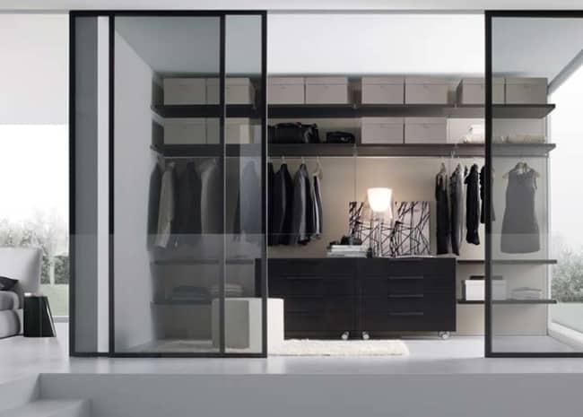 closet modulado com porta chique