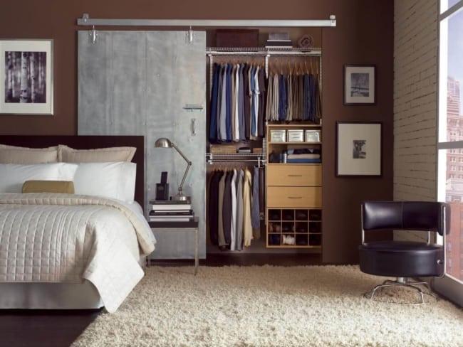 closet modulado com porta de correr