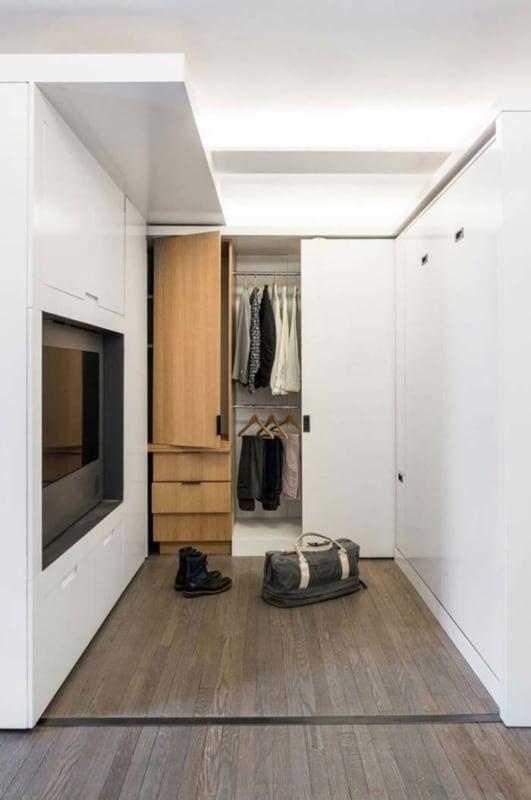 closet modulado com porta moderno