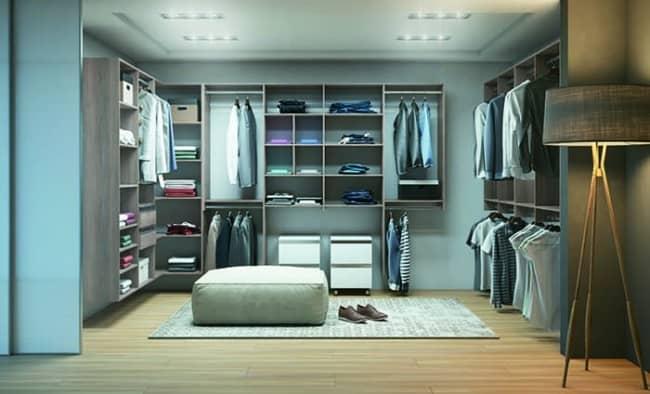 closet modulado em madeira MDF