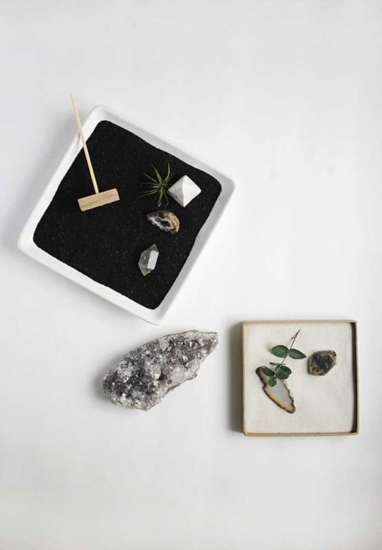 como decorar mini jardim zen