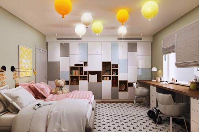 como decorar quarto infantil planejado com duas camas