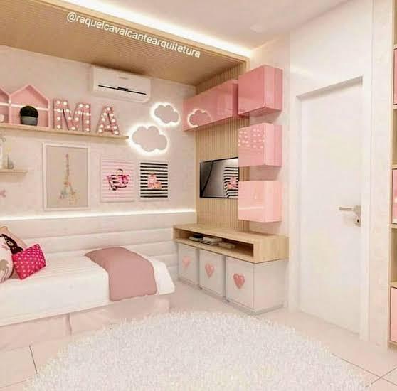 como decorar quarto infantil planejado feminino