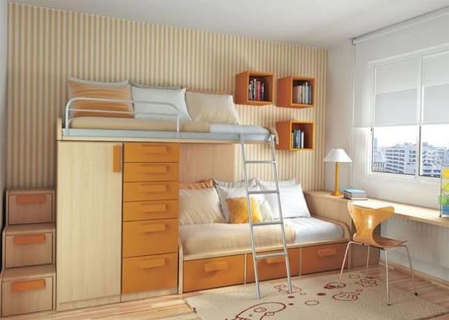 como decorar um quarto de solteiro planejado com duas camas