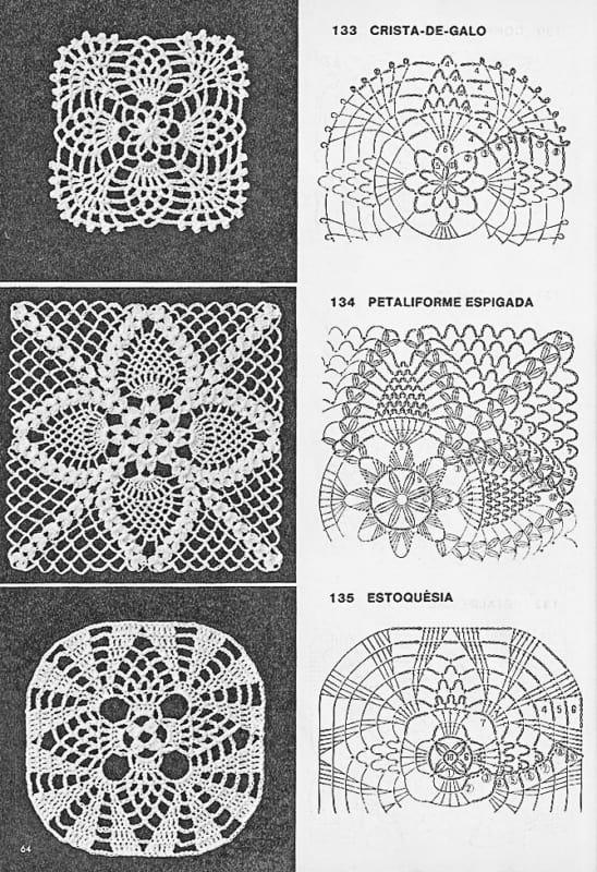 como fazer guardanapos de crochê