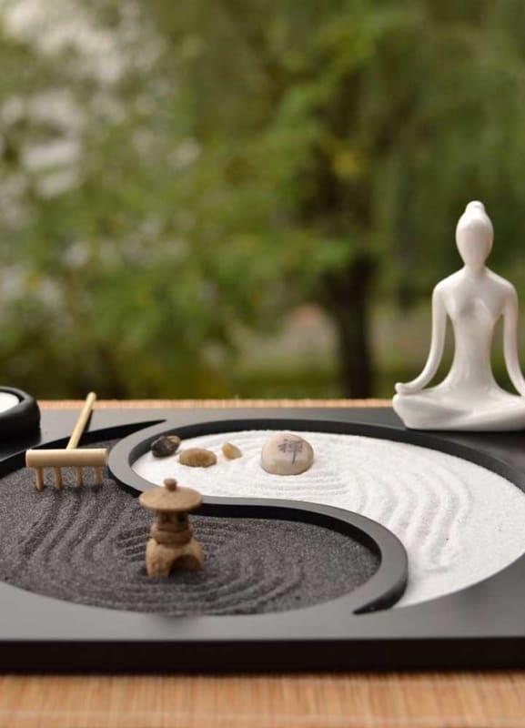 como fazer um mini jardim zen