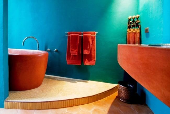 cor terracota em banheiros