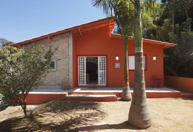 cor terracota em fachadas