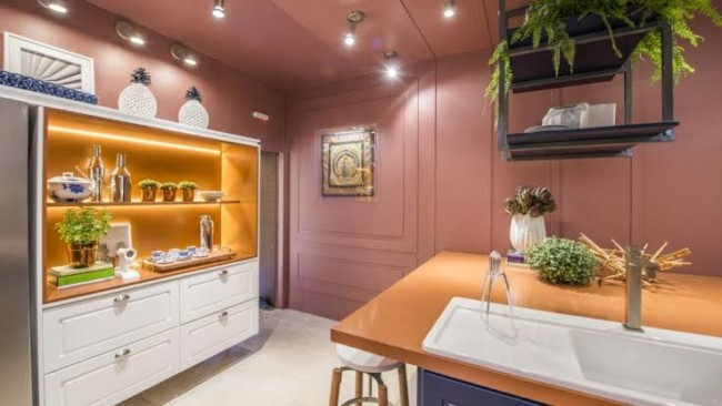 cor terracota na cozinha